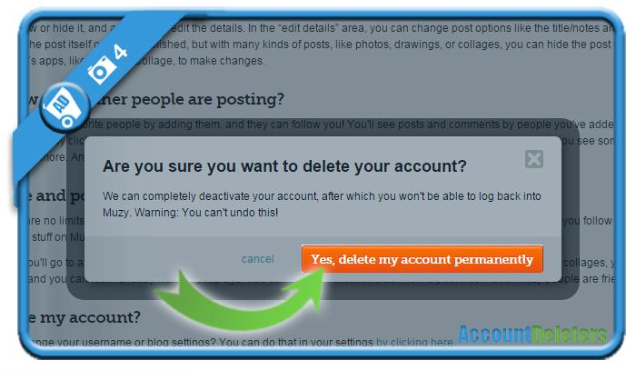 delete muzy account 4