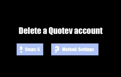 delete quotev account 0
