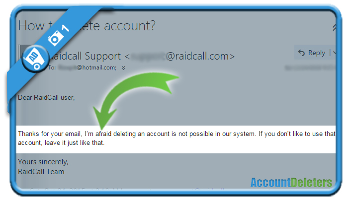 delete raidacall account 1