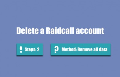 delete raidcall account 0