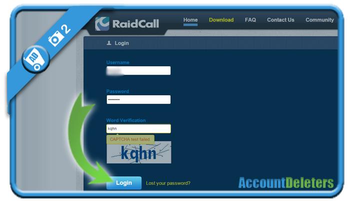 delete raidcall account 2