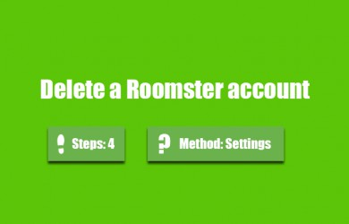 delete roomster account 0
