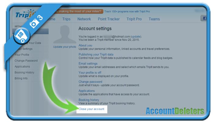 delete tripit account 3