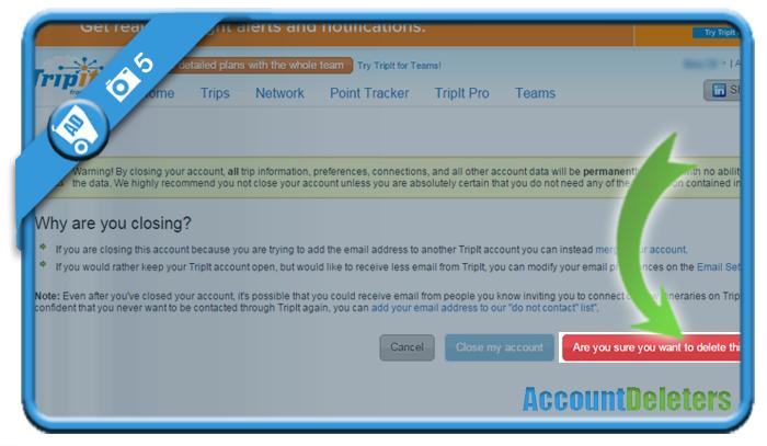 delete tripit account 5