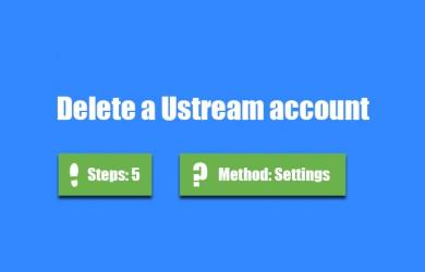 delete ustream account 0