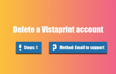 delete vistaprint account 0