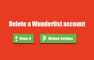 delete wunderlist account 0