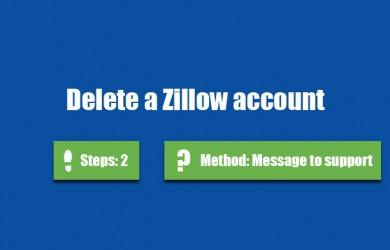 delete zillow account 0