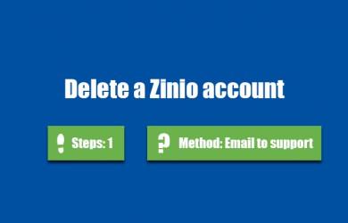 delete zinio account 0