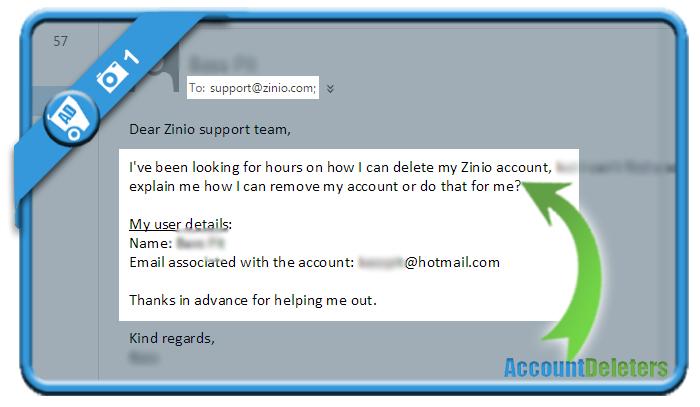 delete zinio account 1
