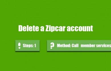 delete zipcar account 0