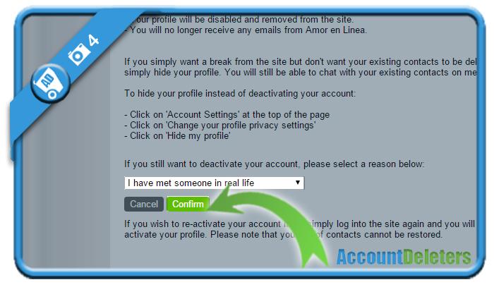 delete amorenlinea account 4