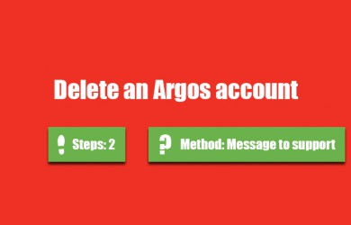 delete argos account 0