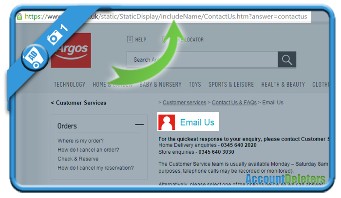 delete argos account 1