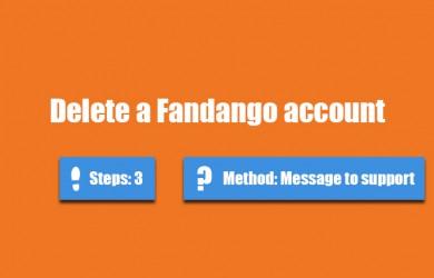 delete fandango account 0