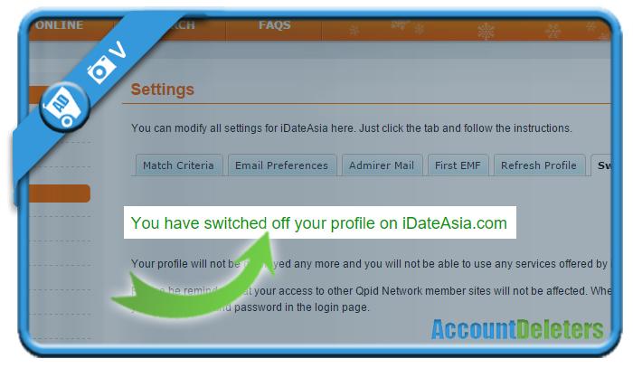 delete idateasia account 7