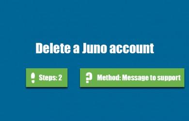 delete juno account 0