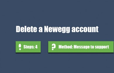 delete newegg account 0