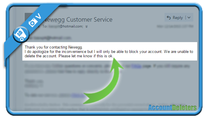 delete newegg account 5
