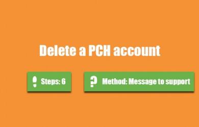 delete pch account 0