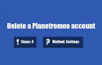 delete planetromeo account 0