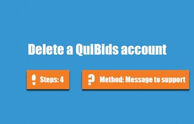 delete quibids account 0