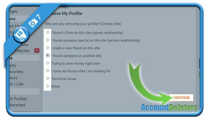 delete singleparentmeet account 7