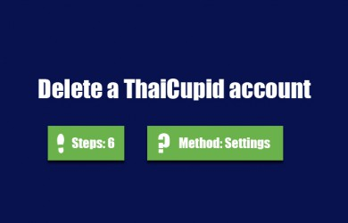 delete thaicupid account 0