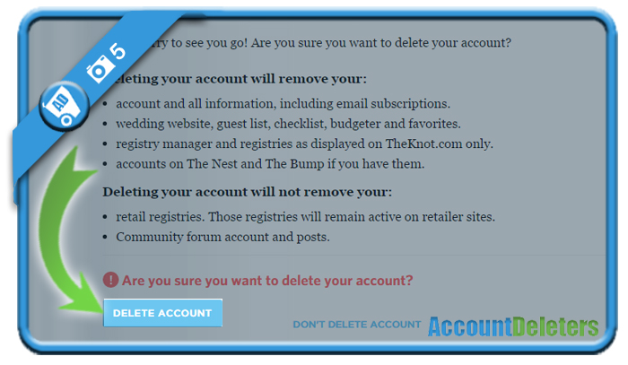 delete theknot account 5