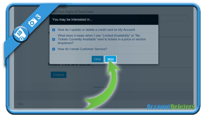delete ticketmaster account 3