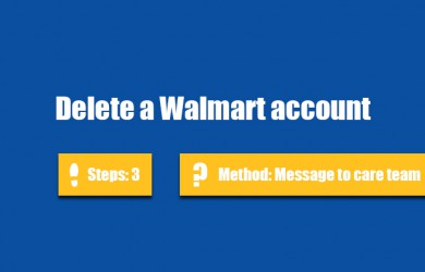 delete walmart account 0
