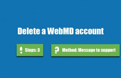 delete webmd account 0
