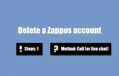 delete zappos account 0