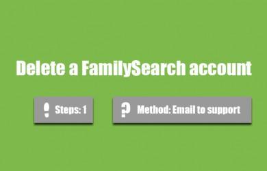 delete familysearch account 0
