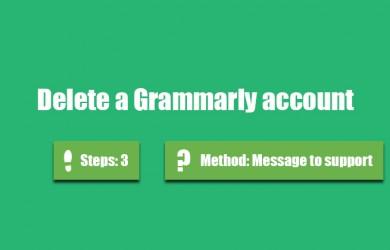 delete grammarly account 0