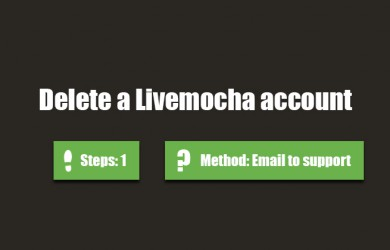 delete livemocha account 0