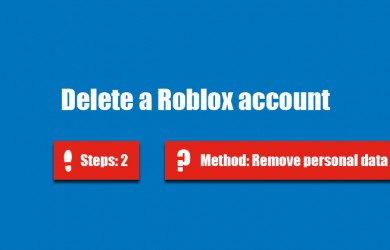 delete roblox account 0