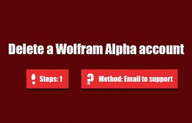 delete wolfram alpha account 0