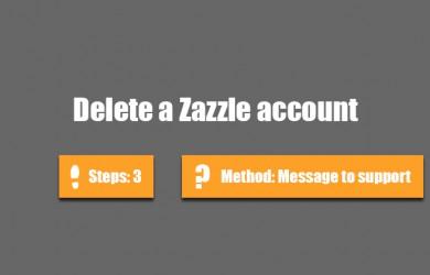 delete zazzle account 0
