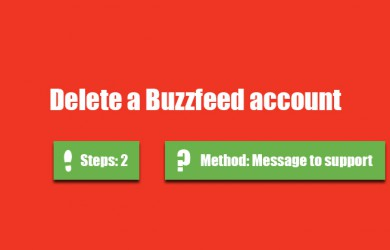 delete buzzfeed account