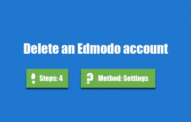 delete edmodo account