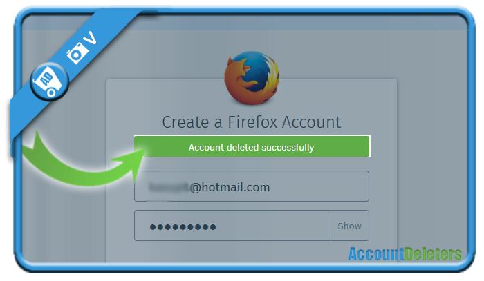 delete firefox account 4