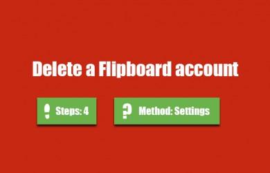 delete flipboard account