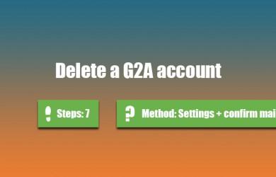 delete g2a account