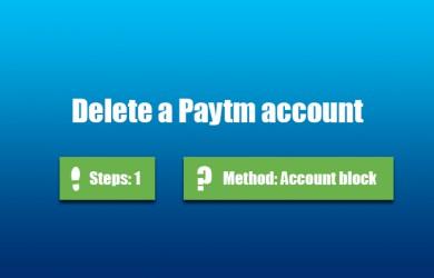delete paytm account