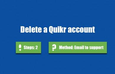 delete quikr account