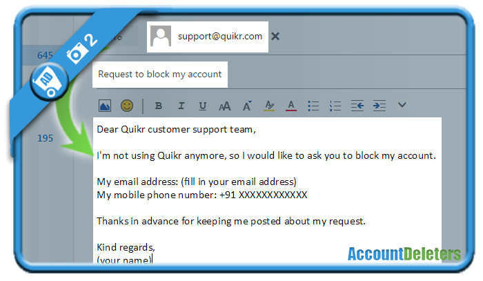 delete quikr account 2