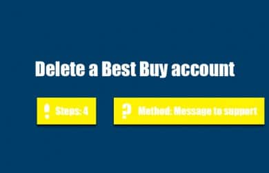 Delete best buy account