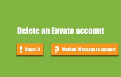 Delete Envato account