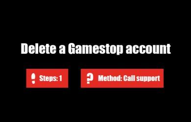 Delete Gamestop account